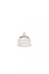 Campana piccola cloche in vetro cm.7h diam.7,3