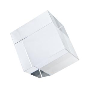 Fermacarte Cubo in vetro con angolo tagliato cm.7x7x7h