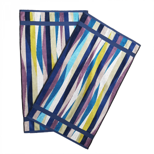Missoni hand towels sale | 2 Hand towels ROMY Blue 15.74