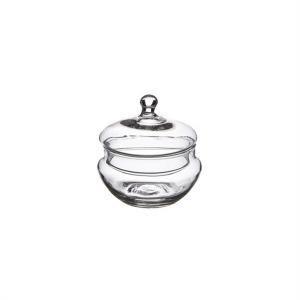 Scatola bomboniera in vetro cm.10h diam.9,5