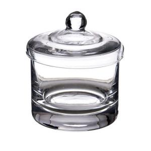 Scatola in vetro bomboniera cm.11h diam.10
