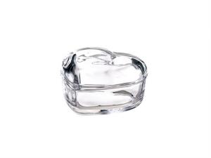Scatola in vetro a forma di cuore cm.8,5x7,5x5h