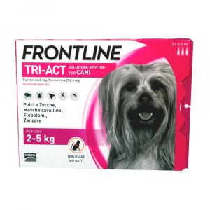 FRONTLINE TRI-ACT per cani dai 2 ai 5 kg - 3 pipette