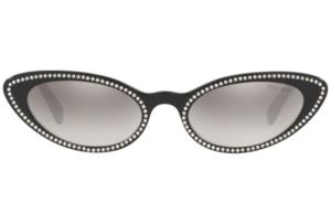Miu Miu - Occhiale da Sole Donna, Core Collection, Black/Grey Shaded  SMU 09U  141-5O0  C53