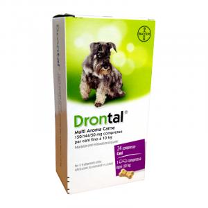 DRONTAL CANE MULTI AROMA CARNE (24 cpr) – Combatte i parassiti intestinali