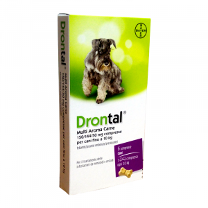 DRONTAL CANE MULTI AROMA CARNE (6 cpr) – Combatte i parassiti intestinali - Bayer