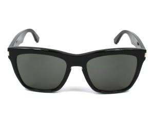 Yves Saint Laurent - Occhiale da Sole Unisex, DEVON SL 137, Matte Black/Grey Shaded 001  C55