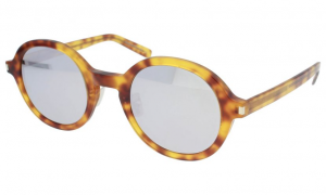Yves Saint Laurent - Occhiale da Sole Unisex, SL 161 SLIM, Blonde Havana/Silver Shaded 004  C48