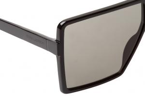 Yves Saint Laurent - Occhiale da Sole Unisex, BETTY S SL 183, Black/Grey Shaded 001  C63