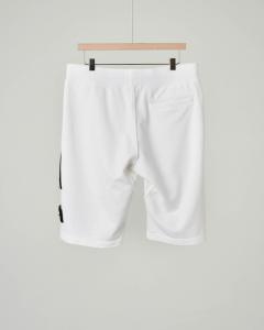 Bermuda bianco in felpa con zip e tasca 8 anni