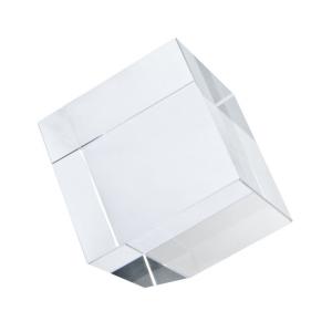 Fermacarte Cubo in vetro con angolo tagliato cm.5x5x5h