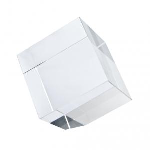Fermacarte Cubo in vetro con angolo tagliato cm.6x6x6h