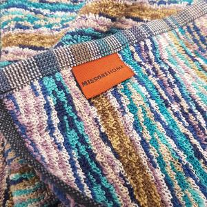 Missoni Home 2 asciugamani 40x60 cm MILO Blu zigzag