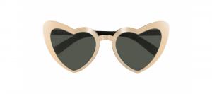 Yves Saint Laurent - Occhiale da Sole Donna, LOULOU SL 196, Gold-Black/Grey Shaded 002  C55