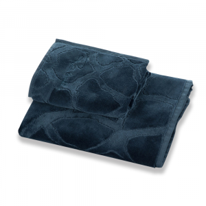 Roberto Cavalli hand towel+ bath towel JERAPAH pure cotton blu