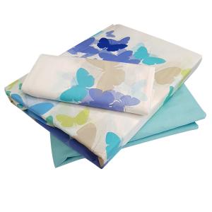 Bassetti Sheets single bed Farfalline turquoise blue