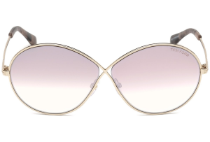 Tom Ford - Occhiale da Sole Donna, RANIA-02, Shiny Rose Gold/Light Pink Shaded  FT0564 (28Z)  C64