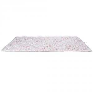 Tapis de Jeu Pour Enfants et Bébés, Grand couleur Rose, Rembourrage en Mousse Souple tissu Hypoallergénique, Tapis de sol Pliant Lavable