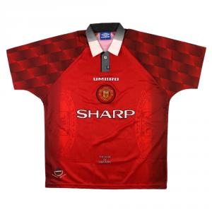 1996-98 Manchester United Maglia Home XL *Nuova
