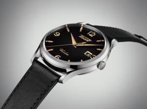 Orologio Tissot Uomo Visodate,  cassa Acciaio cinturino in Pelle nero T118.410.16.057.01