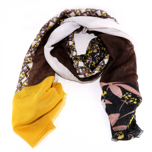 Scarf Liu Jo MIX PRINT 269097 T00300 LIGHT YELLOW