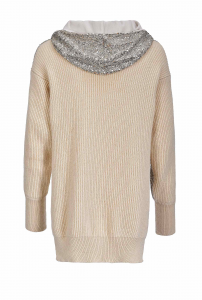 SHOPPING ON LINE PULLOVER LUNGO CON PAILLETTES POICHE PINKO PREVIEW  FALL WINTER 19/20 NEW COLLECTION WOMEN'S