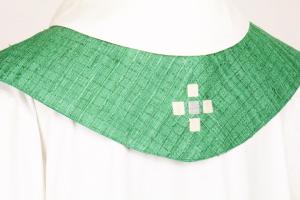 Stola S62 M1 Verde - Seta Greggia Quadri