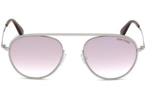 Tom Ford - Occhiale da Sole Donna, KEIT-02, Shiny Palladium/Light Pink Shaded  FT0599 (16Z)  C55