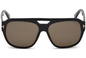 Tom Ford - Occhiale da Sole Unisex, BACHARDY-02, Matte Black/Brown Shaded  FT0630 (01J)  C61