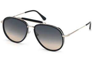 Tom Ford - Occhiale da Sole Unisex, TRIPP, Matte Black/Grey Shaded  FT0666 (01B)  C58