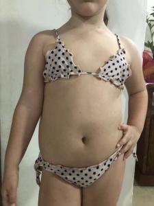 Bikini triangolo e slip nodi frou-frou Catalina Effek