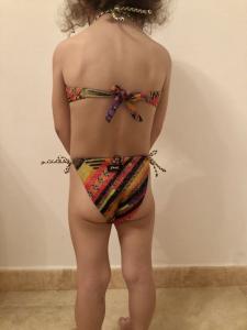 Bikini fascia e slip nodi Papunya Effek