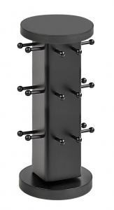 espositore portachiavi in legno nero cm.18x18x43h