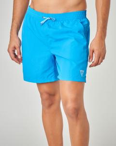 Costume boxer azzurro con taschino