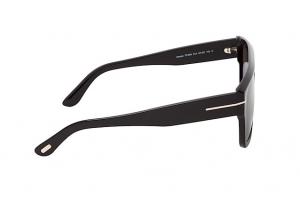 Tom Ford - Occhiale da Sole Uomo, ALESSIO, Shiny Black/Smoke Grey Shaded FT0699 (01A)  C57
