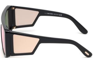 Tom Ford - Occhiale da Sole Unisex, ATTICUS, Shiny Black/Light Pink-Violet Shaded  FT0710 (01Z)  C00