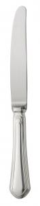 Coltello da tavola, manico vuoto, acciaio inox placcato argento cm.21,5