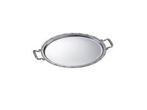 Vassoio ovale placcato argento con manici cm.42x32x1,5h