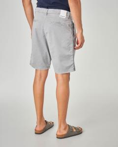 Bermuda grigio chino con doppia pinces e banda