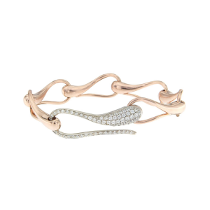Bracciale in catena di oro con chiusura in diamanti brown