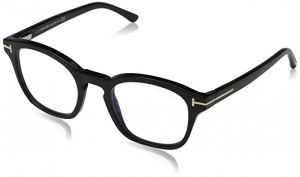 Tom Ford - Occhiale da Vista Unisex, BLUE BLOCK, Matte Black  FT5532-B  (01V)  C49