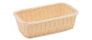 Cestino pane grisini rettangolare in vimini plastificato cm.32,5x18x9,5h