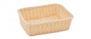 Cestino pane grissini rettangolare in vimini plastificato cm.33x26,5x9,5h