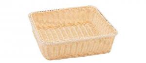 Cestino pane grissini rettangolare in vimini plastificato cm.35,5x32x9,5h