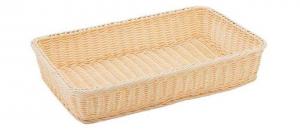 Cestino rettangolare pane in vimini plastificato cm.53x33x10h
