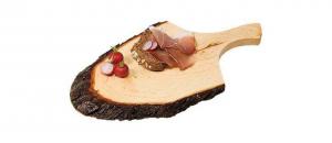 Tagliere in legno corteccia con manico cm.37x19x1,5h