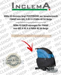 MMx 43 Gomma tergi POSTERIORE per lavapavimenti FIMAP (till s/n 211012836)