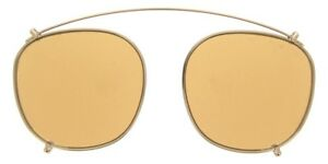 Tom Ford - Clip-on Aggiuntivo per Occhiale Unisex, Rose Gold/Brown Mirror Shaded FT5495 28E  C49