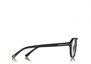 Tom Ford - Occhiale da Vista Unisex, BLUE BLOCK, Matte Black  FT5534-B  (001)  C49