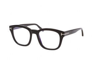 Tom Ford - Occhiale da Vista Uomo, BLUE BLOCK, Matte Black  FT5542-B  (001)  C50